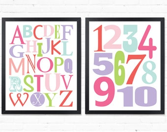 Alphabet wall decor, alphabet printable, alphabet wall art, alphabet room decor, alphabet wall art print, alphabet print, abc wall art print