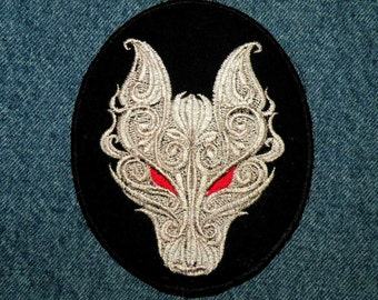 """Dark Wolf Iron on Patch 4.77"""" x 3.92"""""""
