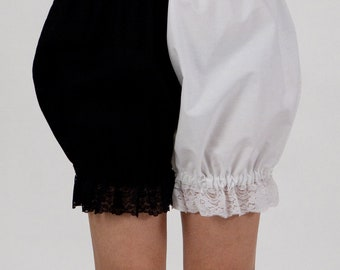 Black and white Gothic Lolita Bloomers