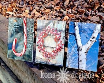Christmas JOY - Alphabet Photography - set of three 4x6 photos-UNFRAMED