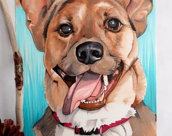 Custom Pet Portrait / Pet Portraits / Dog Portraits / Copic Marker Drawing / Cat Portraits / Drawing of a Dog / Pet Memorial Gifts