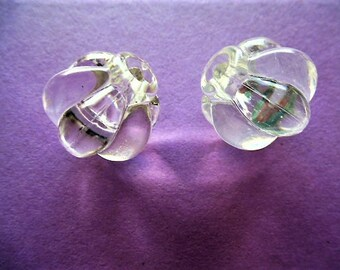 Vintage 22 mm transparent acrylic Lantern shape beads