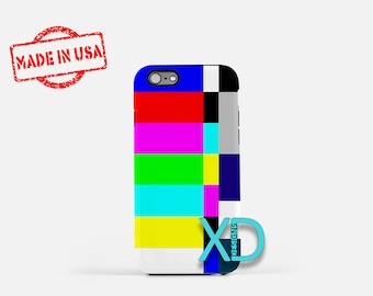 Color Bars iPhone Case, TV iPhone Case, Color Bars iPhone 8 Case, iPhone 6s Case, iPhone 7 Case, Phone Case, iPhone X Case, SE Case Retro