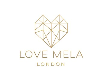 Badge Logo Design Branding Package Premade Graphics Custom Text Clean Geometric Heart Photography Modern Hipster Gold Clean White