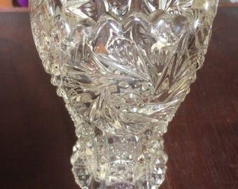 Vintage Cut Crystal Bud Vase