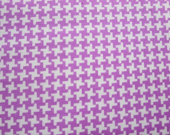 Hope Chest Houndstooth Purple Fabric - On Sale