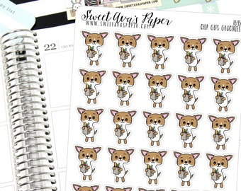 Grocery Planner Stickers - Grodery Shopping Planner Stickers - Food Planner Stickers - Chihuahua Planner Stickers  - 1645