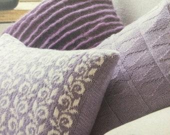 3 x Knitted Cushion Set Knitting Pattern