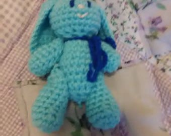 4in Blue Bunny Toy