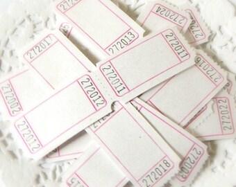 White Blank Tickets. White Tickets. Tickets. Vintage Tickets. Journal Ephemera. Junk Journal Supply. Embellishment. Vintage Journal. Tags.