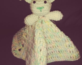 Lovey bunny security blanket