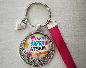 "Keychain bag charm ""A Super?"""