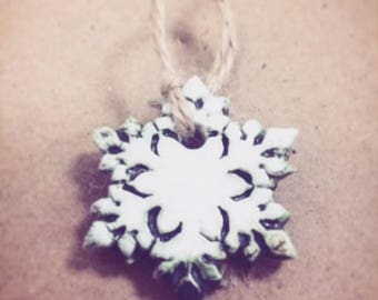 Porcelain Hanging Snowflakes