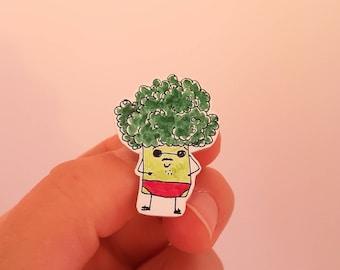 Broccoli with swim trunks Gemüsebrüder vegetable guys