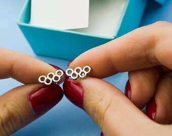 Olympic Rings Earrings-Olympic Earrings-Sport Earrings-Sport Gift-Athlete Earrings-Athlete Gift-Fitness Earrings-Fitness Gift
