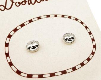 Sloth Earrings (Tiny), Sloth Jewelry, Tiny Earrings, Sloth Jewellery, Sloth Gifts, Animal Earrings, Animal Jewelry, Shrink Plastic
