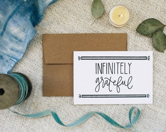 "Thank You 4""x6"" Greeting Card - Infinitely Grateful"