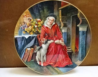 Royal Doulton Bone China Decorative Collectors Plate/Collectors Gallery Edition/Catherine Parr/Collectable Vintage/1995