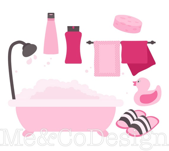 pink bathroom clipart fun pretty clipart retro shampoo instant download personal and commercial use clipart digital clip art rh etsy com shampoo clip art free shampoo clipart black and white