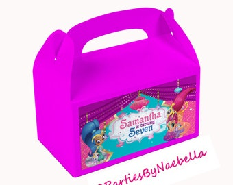 Shimmer and Shine Favor Boxes