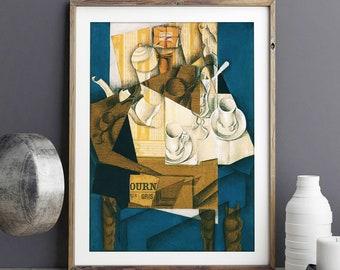 Juan Gris: BREAKFAST, 1914 * Reproduction Print * Juan Gris Art Print * Spanish Wall Art * Painting Print * Wall Decor * Home Decor *