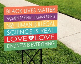 Kindness is Everything Yard Sign - COLORFUL
