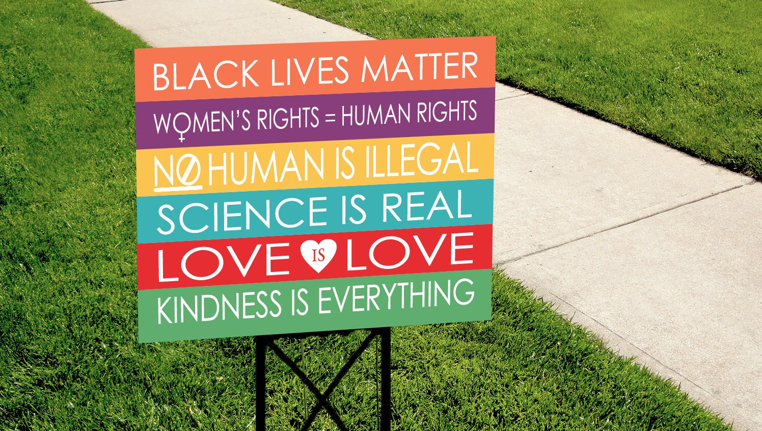 Kindness is Everything Yard Sign COLORFUL