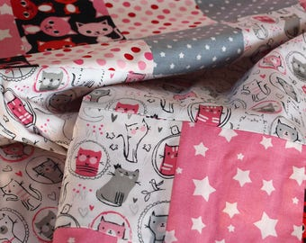 Handmade Baby Blanket - Soft Baby Blanket - Baby Girl Blanket - Patchwork Baby Blanket