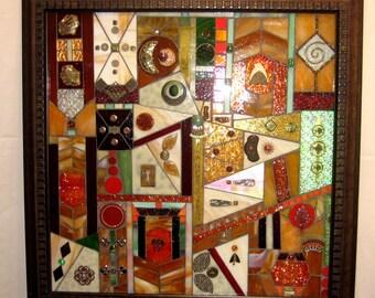 Large Abstract Mosaic Wall Hanging