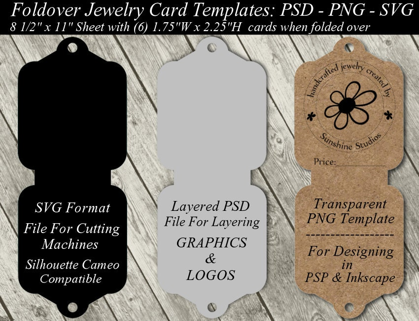 Relatively Jewelry Card Template Available In SVG Cutting File Layered OH39