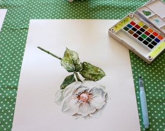 Flower - Original Artwork - watercolor - flower - original artwork - watercolor painting.