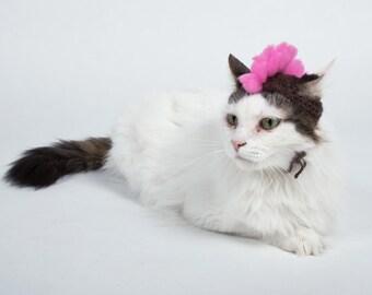 Knit Mohawk Cat Hat, Alpaca Wool Cat Faux Hawk, Cute Handmade Cat Photo Prop, Cat Costume