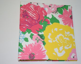 Fabric Covered Binder - Lilly Pulitzer Heritage Floral