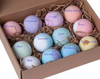 New Bath Bombs Gift Box - 12