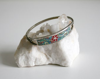 Mexican Crushed Stone Mossaic Inlay Bracelet