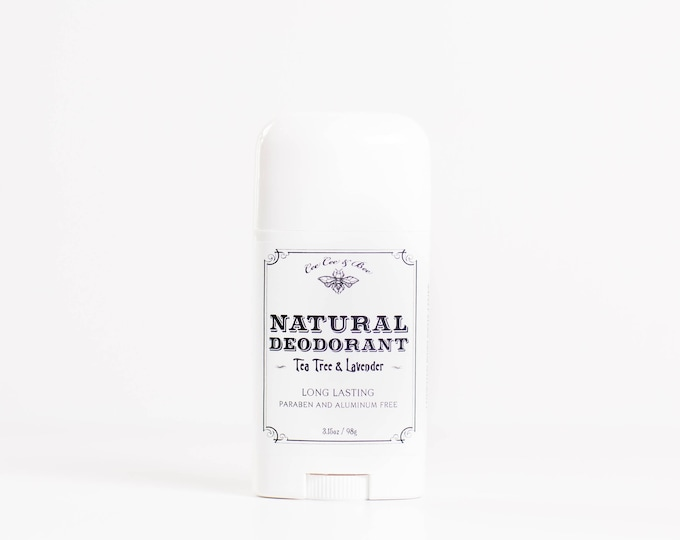Natural Deodorant Stick - Lavender & Tea Tree