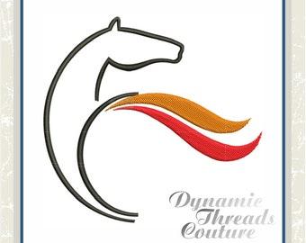 XD000210 Red And Orange Horse