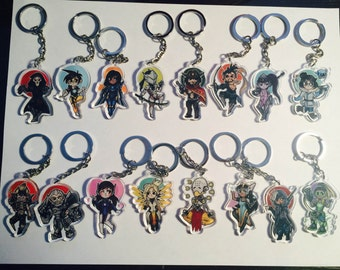 Overwatch Acrylic Keychains- Choose your character