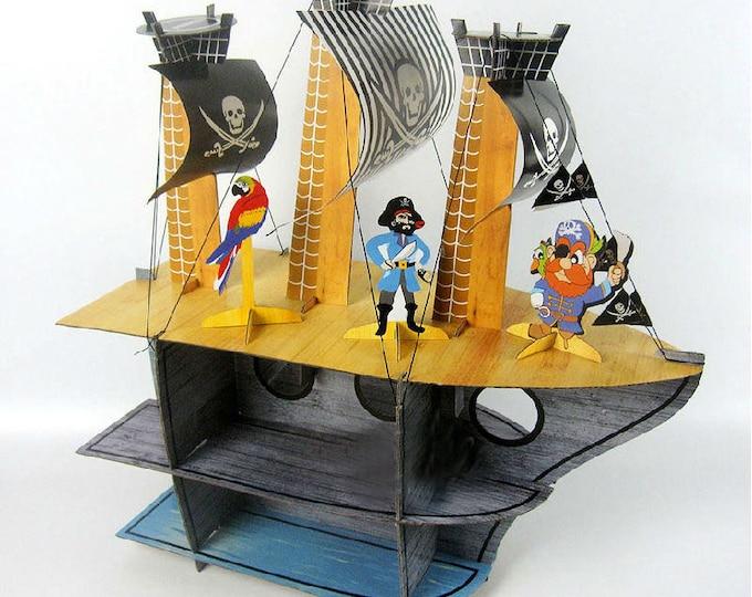Pirate Ship Cupcake Rack Stand Holder Birthday Party Centerpiece
