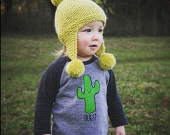 Cactus Hug Baby Toddler Kid 3/4 sleeve Raglan