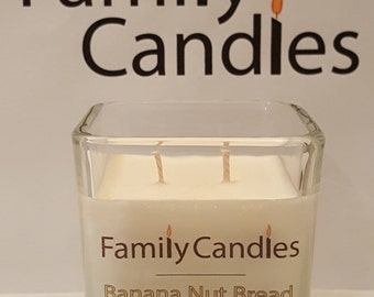 Family Candles -  7.5 oz Banana Nut Bread Double Wicked Soy Candle