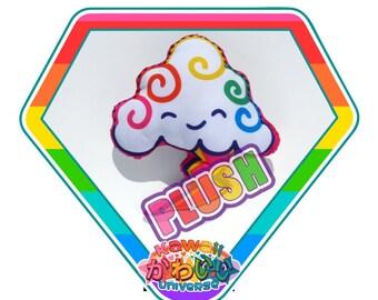 Kawaii Cute Lightning Cloud Doodle Plush