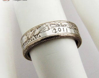 Vintage Silver Plated Copper Band Ring 1930