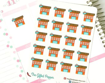 PRINTED Post office stickers. Postal service, mail, package stickers. For Erin Condren Planner. Stickers, calendar stickers (Item #055)