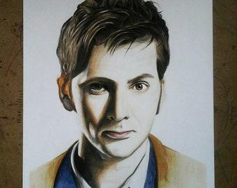 The 10th Doctor - David Tennant Print