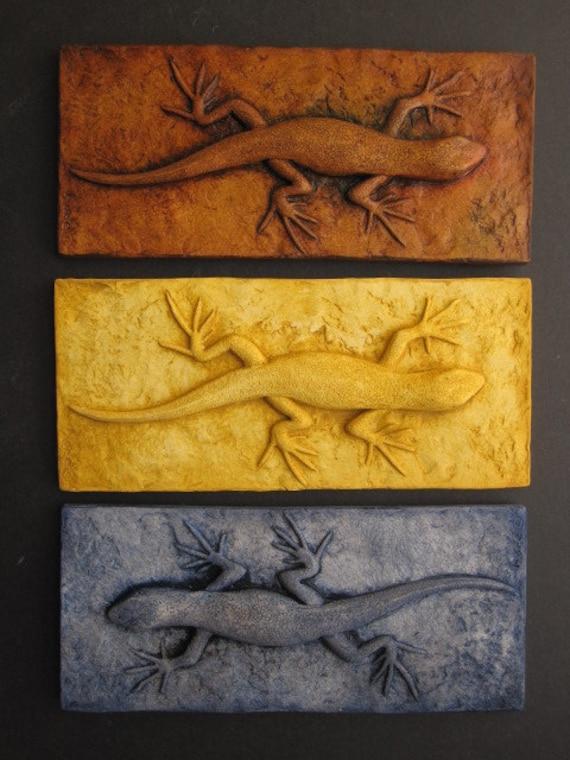 Skinny Lizard Gecko Colorful 3d Wallsculpture Art Gift Nature