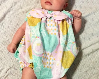 Baby Playsuit Pattern Peasant 0 months through 5t PDF downloadable
