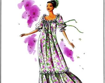Loose-fit, Floor Length Pullover Muumuu size S-3XL Victoria Jones Sewing Pattern # 200