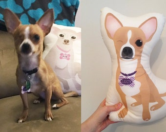 Custom Pet Illustrated Pillows - Cartoon Pet Portrait
