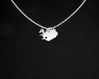 Iceland Necklace - Iceland Jewelry - Iceland Gift